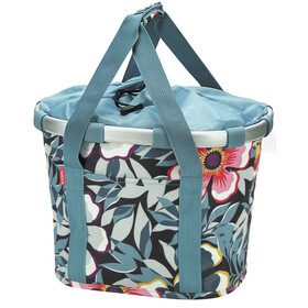 KlickFix Reisenthel Bike Basket flower grey/blue